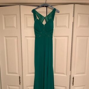 Kelly green formal or prom dress